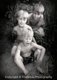 3 boys bare chested vertical 2013 BW