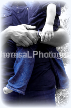 Dad holding baby son 2013 BW BLUE