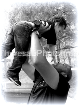 Kenny lifting Aiden 2013 BW Yay!