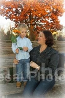 Elliott giving sunflower to Jeanine 2013