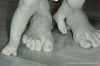 feet baby and dad